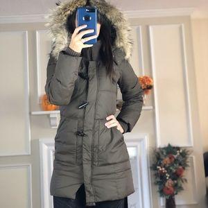 BCBGMAXAZRIA Puffer Down Feather Winter Coat, XS